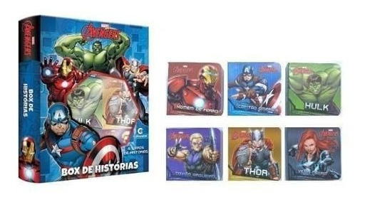 Box Histórias Avengers Vingadores Com 6 Livros De Capa Dura