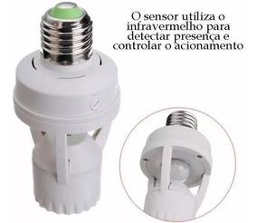 Kit 4 Sensor Presença Fotocélula Lâmpada Timer Soquete E27