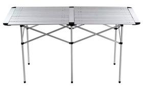 Mesa Dobrável Alumínio Retangular 1,40mx69,50cm Promoção