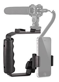 Suporte P/celular,iluminador E Microfone P/gravação De Vídeo