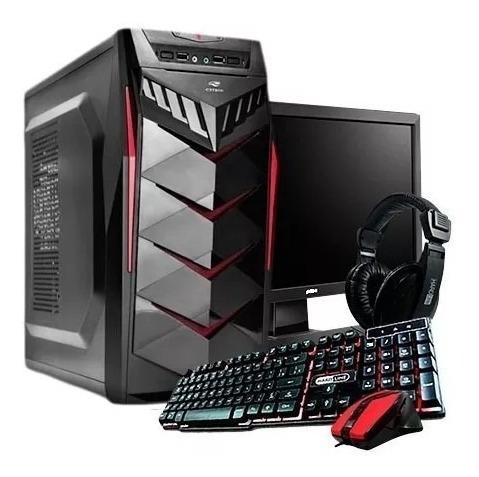 Computador Gamer I3 8 Gen Ssd 120gb Monitor 19 Lg