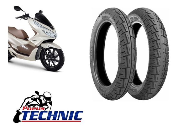 Par De Pneus Technic 100/90-14 + 90/90-14 Honda Pcx 150