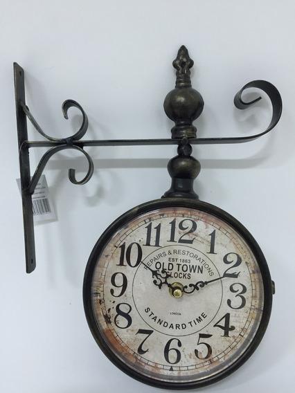 Lindíssimo Relógio De Parede Em Metal 33x25 F370
