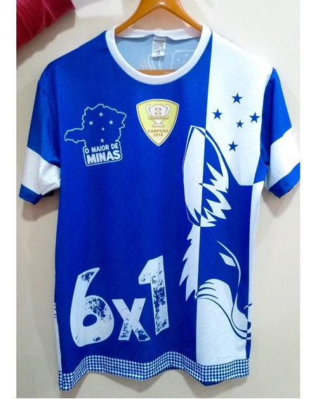 Camiseta Cruzeiro Azul Hexacampeão
