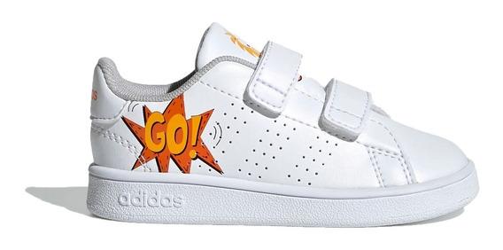 Zapatilla adidas Lifestyle Niño Inf Advantage I Blanco Ras