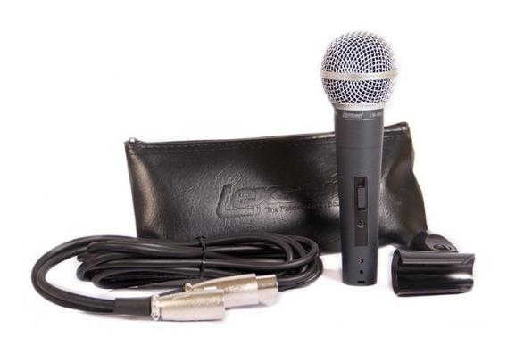 Microfone Lexsen Dinâmico Cardióide Lm-58s - Ac1562