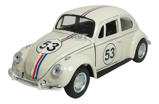 Carrinho De Ferro Fusca Herbie Miniatura Coleção Carros