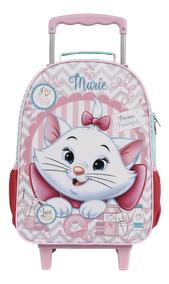 Mochilete Escolar Marie Gatinha Disney Original