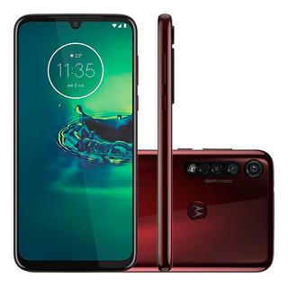 Smartphone Motorola Moto G8 Plus 64gb Câmera Tripla Cereja