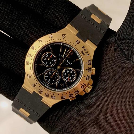 Bulgari Diagono Terra Profissional Ouro Amarelo Chronograph!