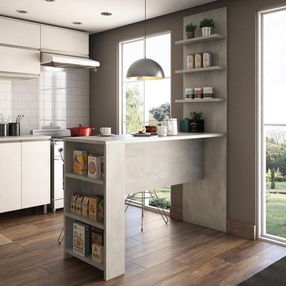 Bancada Mesa Para Cozinha Com Painel Suprema Siena Ee