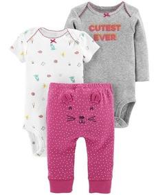 Bebe Carters Kit Body Calça Menina Menino - Original