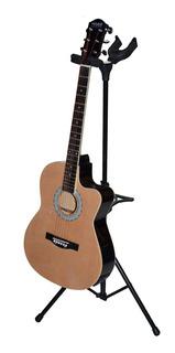 Soporte Para 2 Guitarras Plegable Traba Automatica