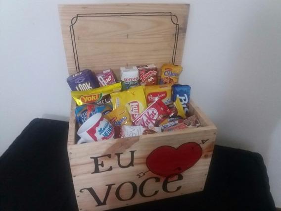 Cesta Para Dia Dos Namorados-presente-caixote De Feira Madei