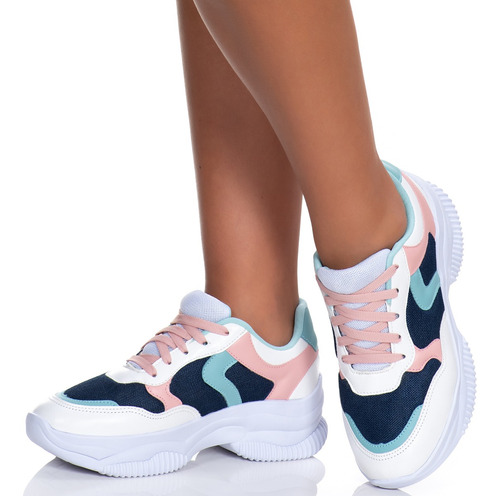 Sneaker Tênis Chunky Feminino Blogueira Flatform Lançamento