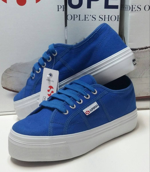 Superga Cotu Plato Azul Royal