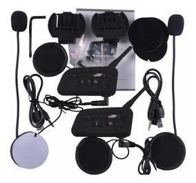 Intercomunicador Comunicador Capacete Moto V6 Intercom Mp3