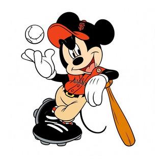 Mickey Béisbol - Sticker Vinilo Adhesivo Gigante