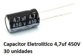 30 Unid Capacitor Eletrolítico 4,7uf 450v 105° - Pronta Entr