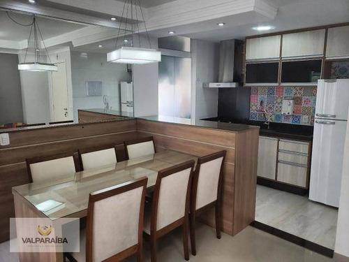 Apartamento À Venda, 64 M² Por R$ 295.000,00 - Conjunto Residencial Flamboyant - São José Dos Campos/sp - Ap0756