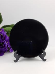 Espelho De Obsidiana Mexicana Para Esoterismo 97,0 Mm J159