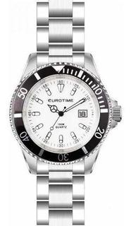 Reloj Eurotime Hombre Submarine 11/2901 Acero Lupa Sume