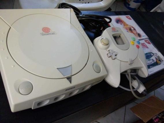 Dreamcast 1 Controle 2 Jogos Originais E Cabos