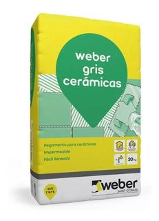 Weber.col Gris (x 30kg)- Pegamento Para Cerámica Impermeable
