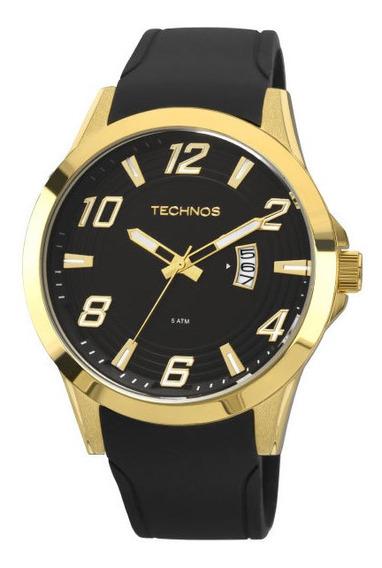Relógio Technos Masculino Racer Dourado Silicone 2115kqa/8p