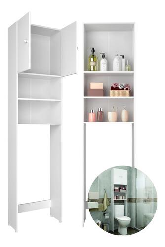 Imagen 1 de 5 de Mueble Multiuso Para Baño Sobre Inodoro Aéreo 2p Mulata