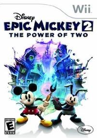 Nintendo Wii Juego De Disney Epic Mickey 2 El Poder De Dos
