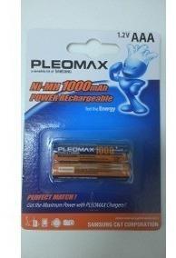 Pilha Recarregavel 1000mah Aaa 1,2 Pleomax C2 Samsung