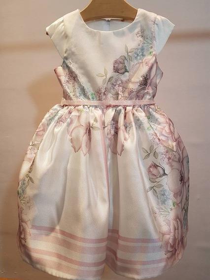 Vestido Infantil De Festa Petit Cherie Lilás Organza Floral