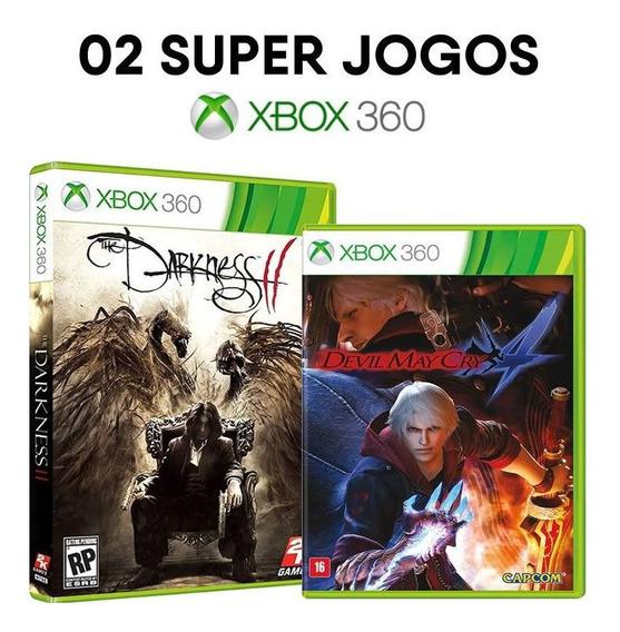 Darkness Ii + Dmc Devil May Cry 4 - Xbox 360 Mídias Físicas