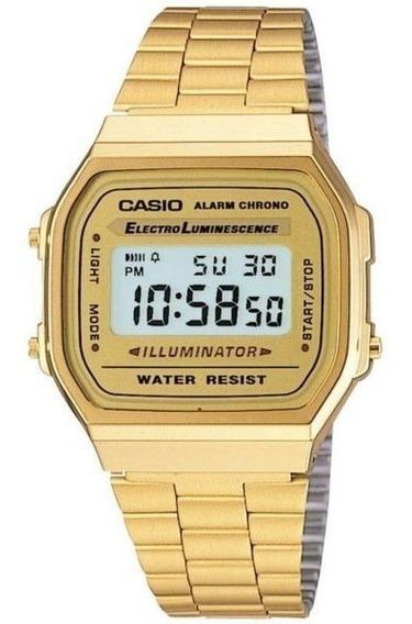 Reloj Casio Dorado A168 Retro Vintage