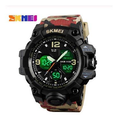 Relógio Masculino S Shock Anadig Digital Militar Skmei 1155