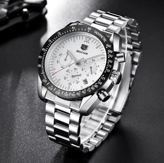 Relógio Benyar By5120 Tachymetre - Cronometro Analógico