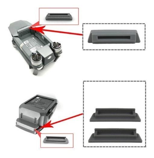 Protetor Bateria Mavic Pro Protege Poeira E Curto 3 Peças