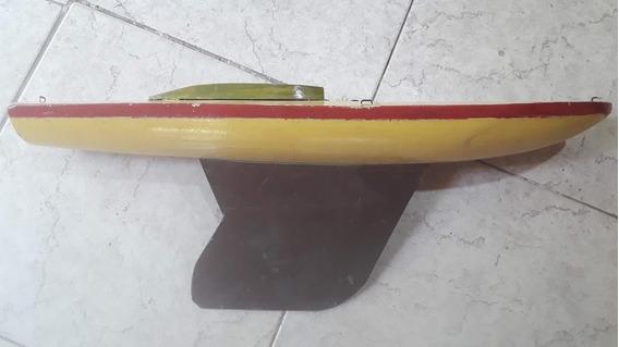 Velero Antiguo Juguete De Madera 53 X 12 X 6 Caladura 20 Cm