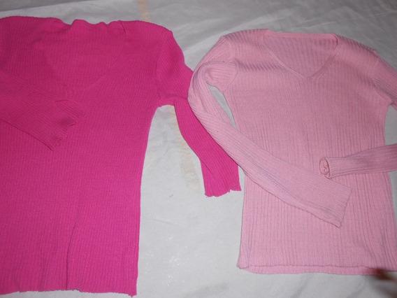 Son 2 Sweter Escote En V Rosa Y Otro Muy Lind0s!!!!