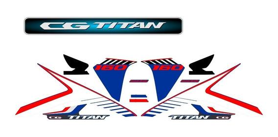 Adesivo Faixas Emblema Cg Titan 160 2018 Personalizado