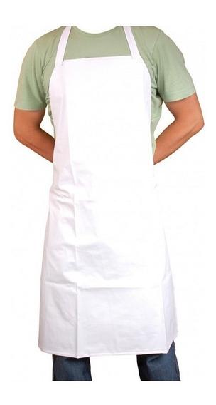 10 Un. Avental Branco (pvc) (cozinha, Açougue, Padaria)