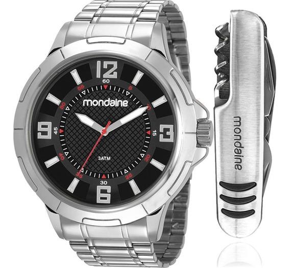 Kit Relógio Mondaine Masculino 83397g0mvne2k Prateado + Nf-e
