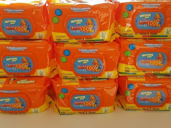 Kit 1000 Toalha Umedecidos Natural Baby Lenço Kit Com 1000