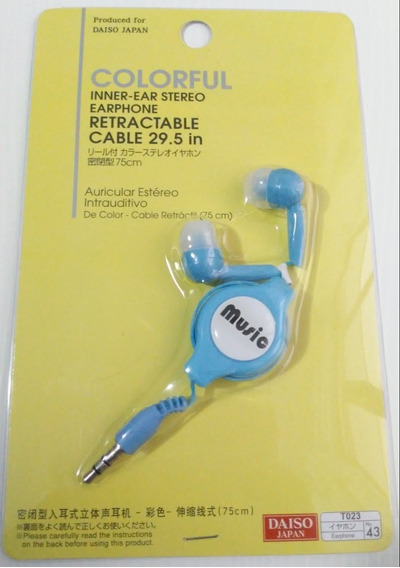 Fone Stereo Retrátil Azul