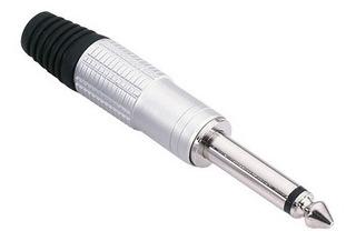 Adam Hall 7514 Conector Aéreo Plug 6,3 Mm Mono Plateado