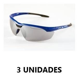 Kit C/ 3 Oculos Veneza Azul Espelhado Kalipso Epi