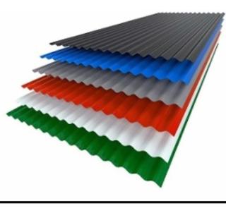 Chapa Color C25 Para Techo Acanalada- Trapezoidal