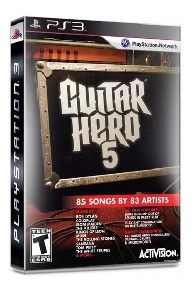 Jogo Novo Mídia Física Guitar Hero 5 Para Playstation Ps3