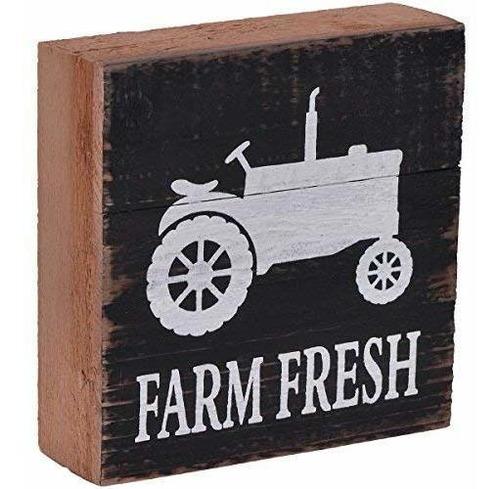Nikky Home Farmhouse Farm Cartel De Caja De Tractor De Mader